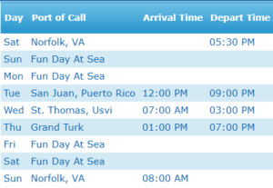 Easter Caribbean Cruise Itinerary