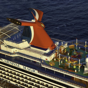 Aerial view of Carnival Magic cruise ship