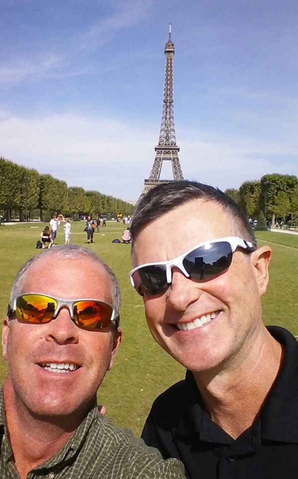 Jeff & Dennis with Eiffel Tower in Background