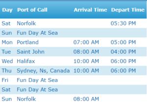 Canada New England Itinerary